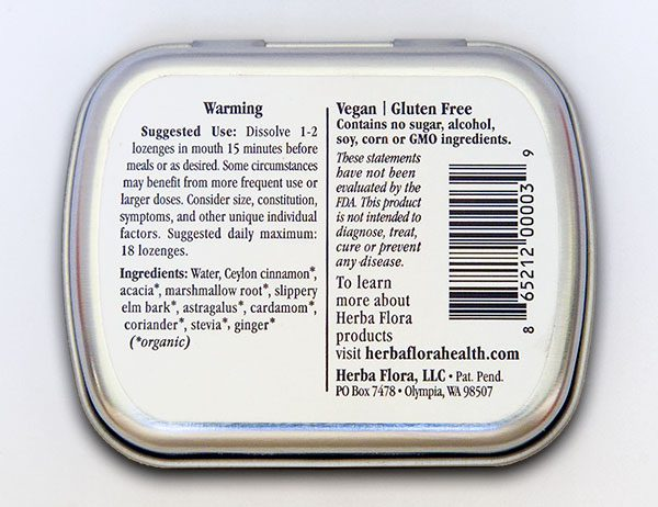 Herba Flora Warming package bottom